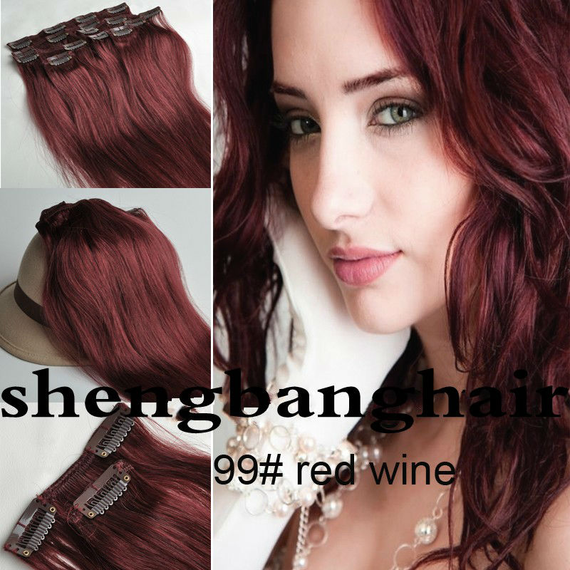 120g Remy Clip In Hair Extension peruvian clip in hair extensions 8pcs\Set Human Hair Extension