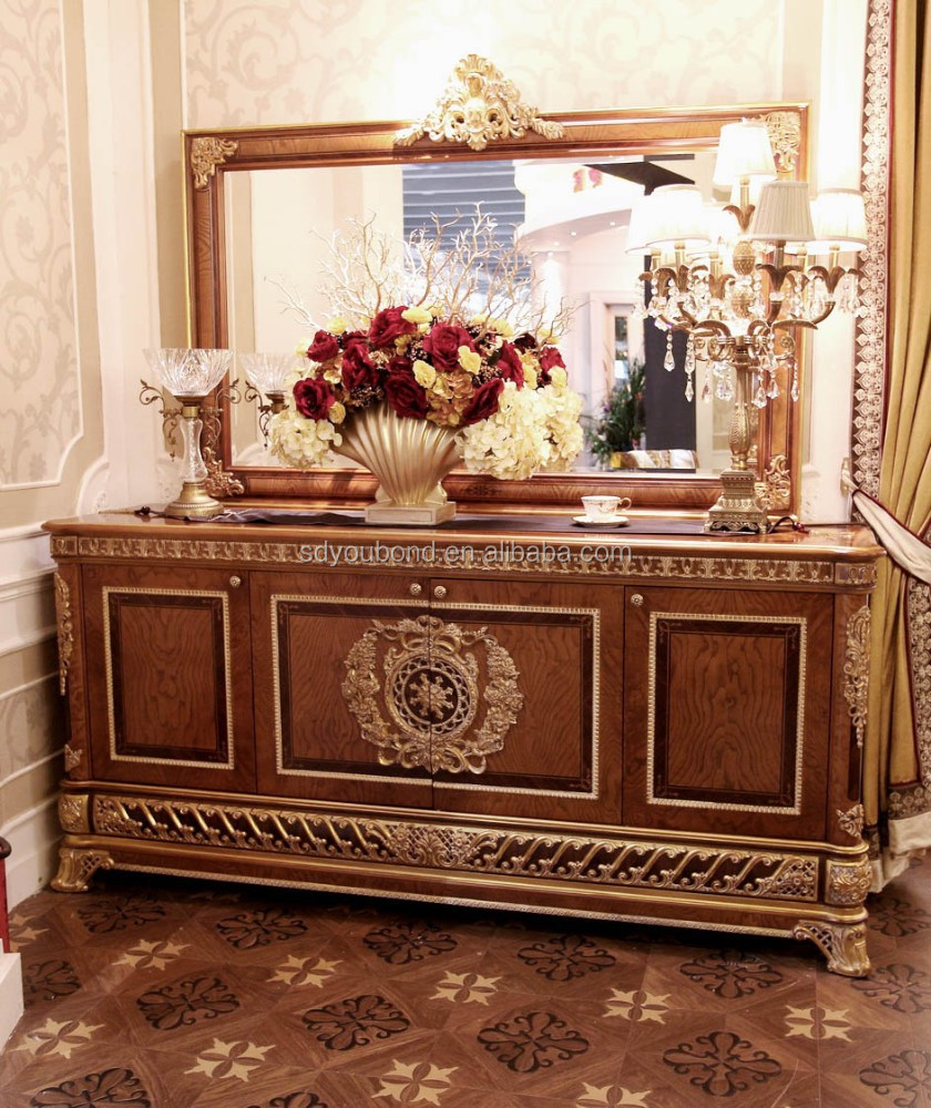 2015 0062 antique luxury wood dining room sideboard