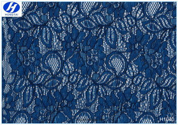 2016 fashion french tulle royal blue lace fabric