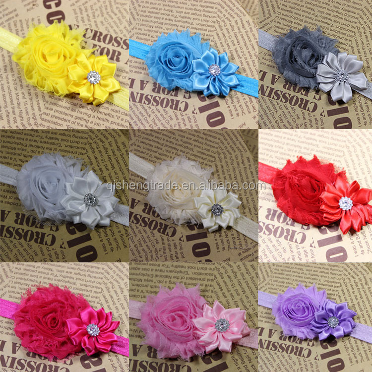 Wholesale baby girl headband yellow and navy blue glitter hair bows