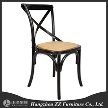 Wooden design X back chair restaurant cross back dining chair