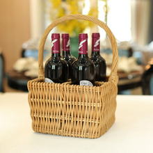 The best quality wicker wine basket wine bottle baskets red wine basket with handle