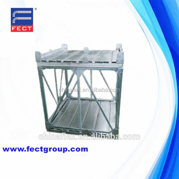 Industrial Metal Stackable Rack Boxes Double Stacking Pallets