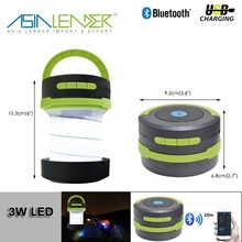 8 Hours Continuous Working With Bluetooth Speaker & FM Radio USB Rechargeable Telescopic Camping Lantern