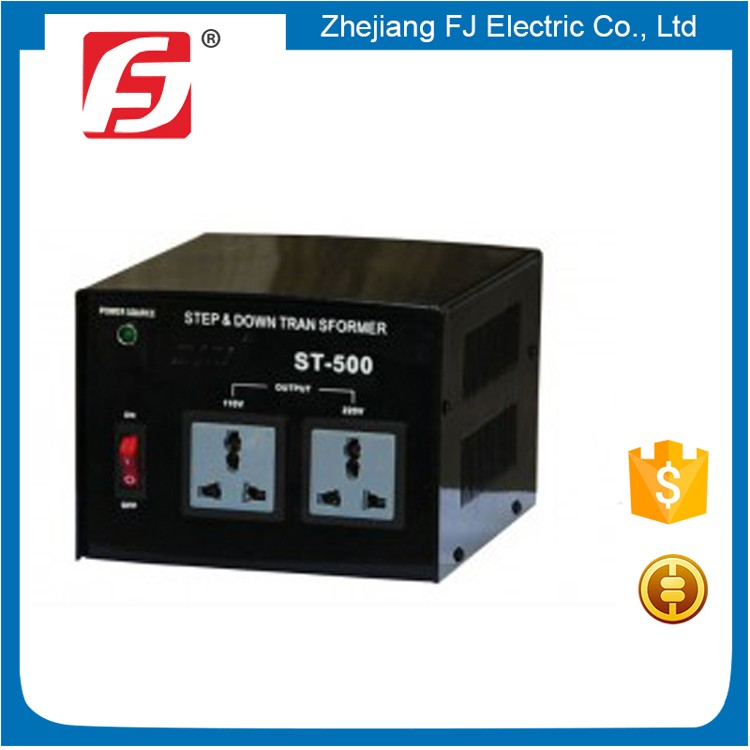 Good quality ST electronic single phase auto transformer 110v to 220v