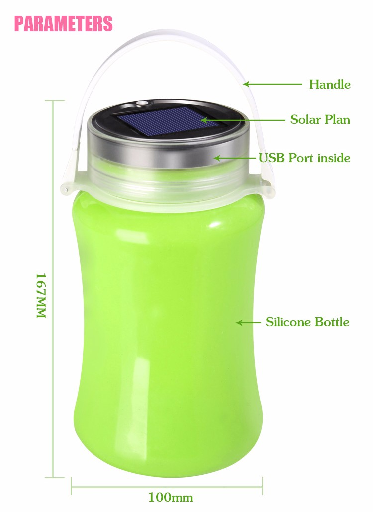 2017 Inflatable Solar LED Lantern for Outdoor Emergency Rechargeable LED Camping Lantern with CE and RoHS Certified