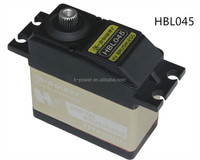 HBL045 high voltage airplane servo/high torque aluminum mid case servo/metal gear servo with brushless motor