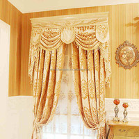 2016 luxury designs flocking window curtains for the living room