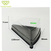 disposable triangle transparent sandwich/cake plastic food container/box/packaging