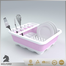 Hot Selling Plastic Colorful Collapsible Dish Drainer