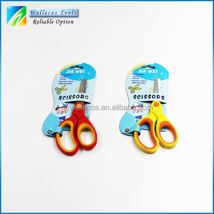 scissor office school with cute printing, best multi colored ABS handle professional scissor set