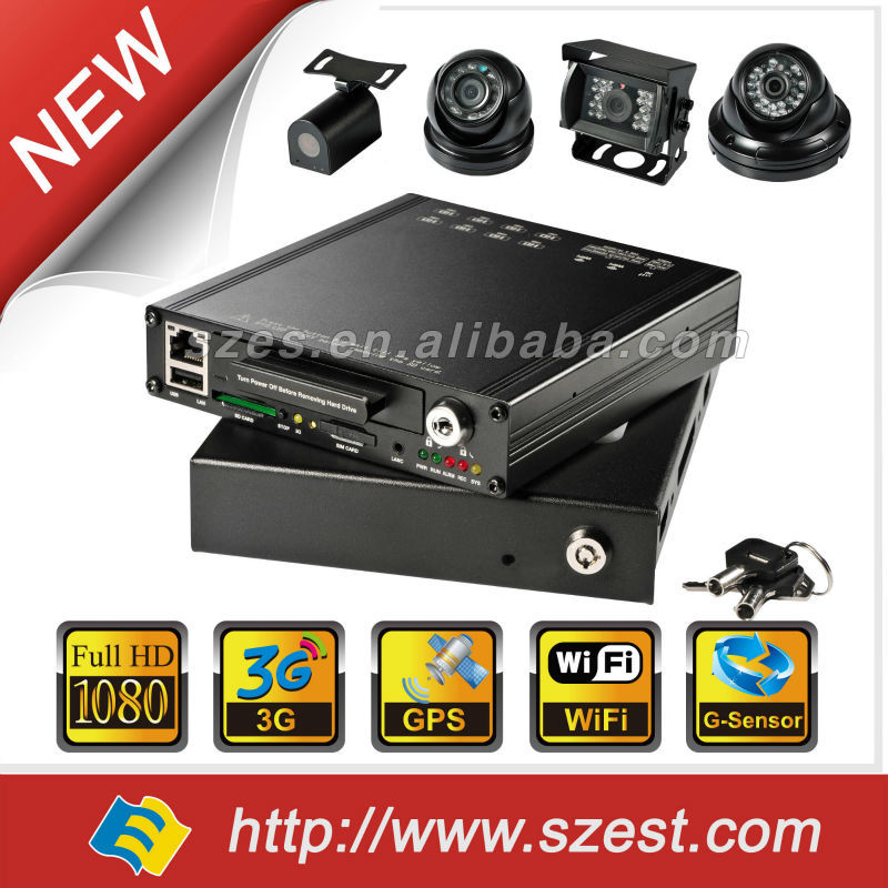 4ch 8ch built-in 3G/4G/WIFI/g-sensor DVR security mini HD 1080P Mobile DVR manufacturer 13 years Free CMS WIFI Auto download