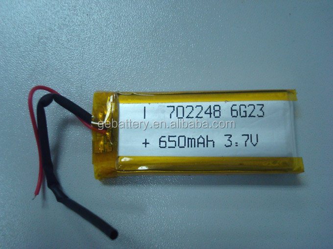 GEB 702248 li-ion battery 7.4v 650mah for mp3 players with long battery life