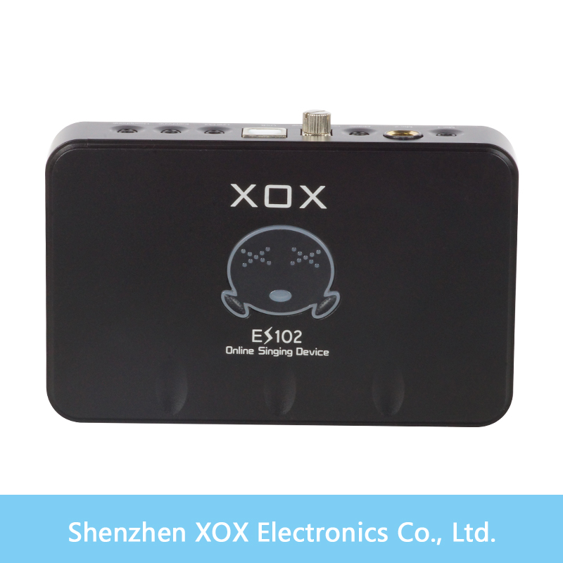 The XOX audio interface/sound recording card ES102 phone /tablet PC on-line karaoke