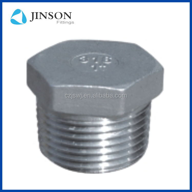 China manufacture Stainless steel 304 NPT hex head plug