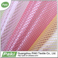 Pvc Coated thin waterproof polyester mesh fabric transparent mesh lining fabric for cold protective golves for bag