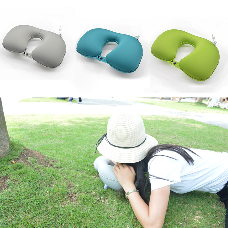 Promotion airplane sleeping inflatable travel pillow