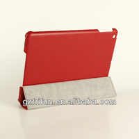 Customer OEM red smooth surface leather tablet case for ipad air