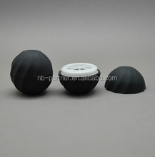 2017 Alibaba assurance black egg shaped 7g lip balm ball container / tin / jar case for lip products