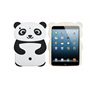 Cute 3D Cartoon Animal Series silicone Case for IPad Mini,New Black Panda Shape Style Soft Silicone case for IPad Mini