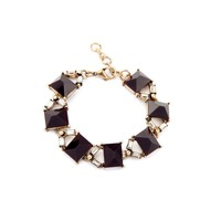 Classic Brown Square Bracelet Imitation Gemstone