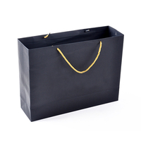 OEM with logo factory wholesale gift shopping custom black cardboard paper bag