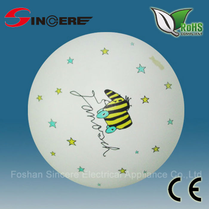 kids lighting Round Acrylic ceiling design cartoon decoration Silk print or white PMMA cover