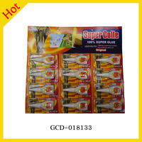 Factory Price 3g 502 Bottle Package Super Glue 12pcs Blister Packing Card Glue