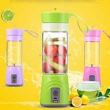 400ML Mini juicer fruit juicing cup rechargeable power bank 2000Mah portable electric mixer blender