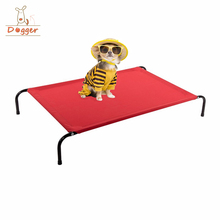 Custom logo Outdoor Durable Metal Frame Elevated steel pet bed dog cot
