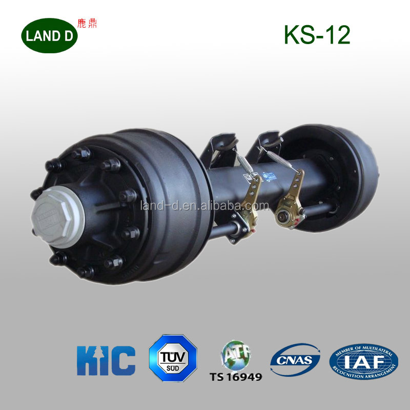 American KIC Type 12000kg Square Tube Air bag light tractor trailer axle for sale