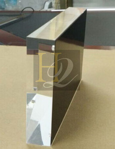 Clear Acrylic Magnetic Photo Frame Square Tabletop Picture Frame Golden Supplier Factory