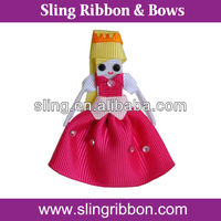 Lovely Ribbon Princess Sculpture Hair Clip For Kids