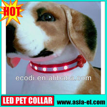 The newest ,the hottest ! high brightness Charming led pet collar for dogs/pet for leash