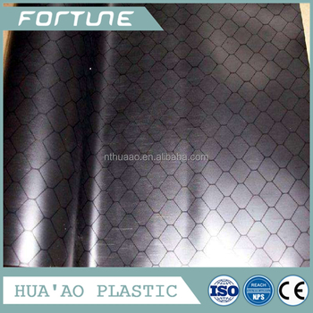 black esd pvc rigid film roll