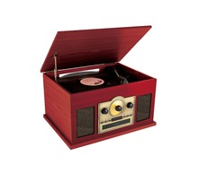 CA8-Antique Multiple Cassette Radio Turntable CD Record Player
