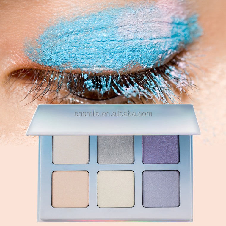 Makeup Glitter Eyeshadow Palette OEM White Empty Eyeshadow Palette