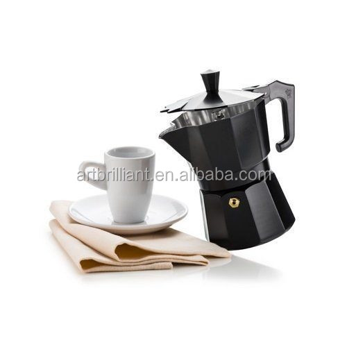 6 Cup Moka Pot Latte Percolator Stovetop Espresso Coffee Maker Stainless Steel