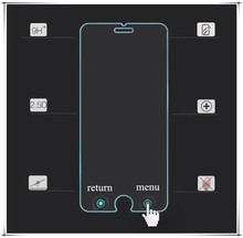HD Anti smudge buttons glass screen protector for iphone 6s smart touch