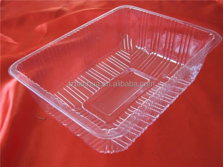 disposable plastic fruit and vegetable packing tray for supermarket