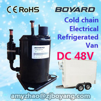 lanhai r134a 24v dc inverter compressor for electric tricycle refrigeration box cab van