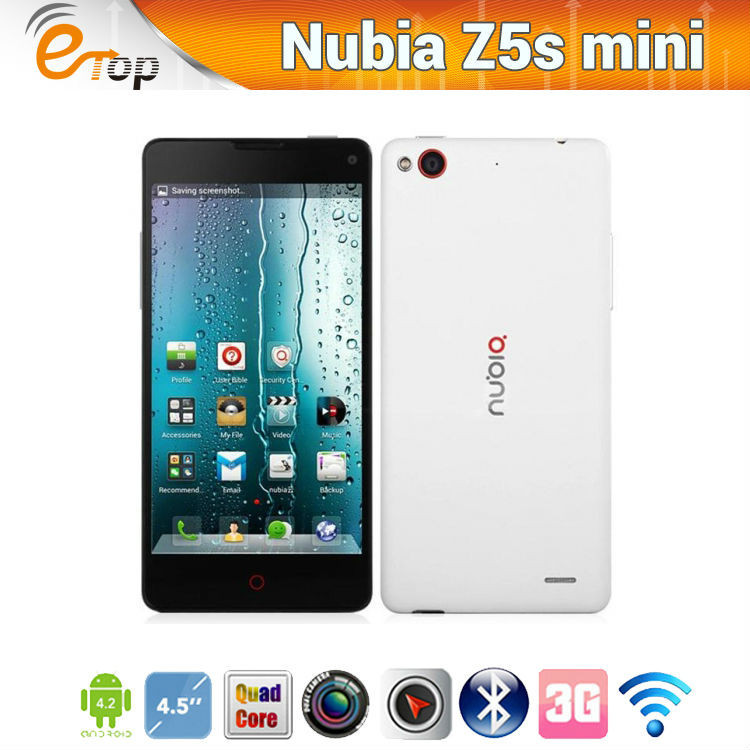 Best 4.7Inch Android Smartphone ZTE Nubia Z5S mini Android 4.2 4.7 Inch Qualcomm600 1.7GHz 2GB 16GB 13MP White