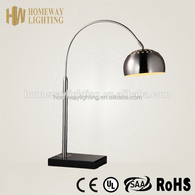 Modern design adjustable table lamp magnifying glass green ROHS approval/Marble Stand Floor Lamp