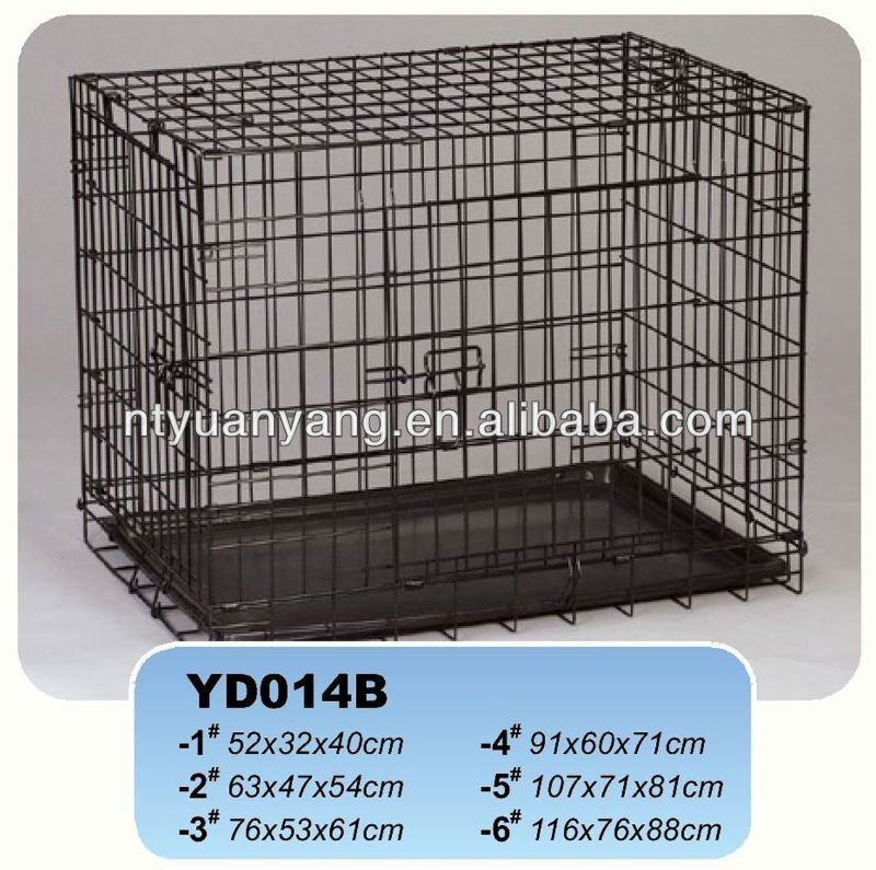 black folding metal wire dog kennel