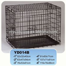 plastic pan folding wire pet kennel made in China