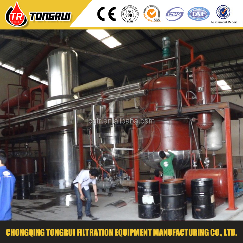 used engine oil recycling machine with oil smell remover and oil distillation system
