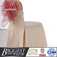 pink wedding pleated spandex chair cover
