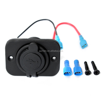 12V Dual USB Car Motorcycle Socket Splitter Power Adapter Mobile Phone Charger