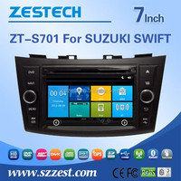 8 inch in dash double din car dvd gps for Suzuki Swift with bluetooth, steer wheel control, TV, FM/AM, RDS