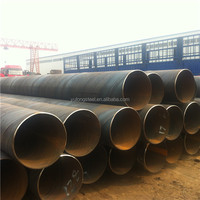 "API 5L/ASTM A53 Gr.B SSAW Pipe , OD36"" WT: 12.7mm Length: 12meters,Welded Pipeline, used for oil & Gas"